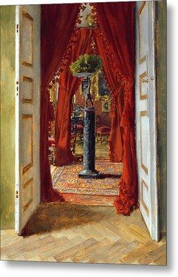 The Red Room Metal Print by Albert von Keller