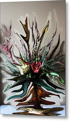 The Red Rose Metal Print by Ella Char