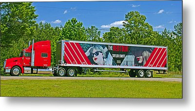 The Red Tour Truck Metal Print by Andy Lawless