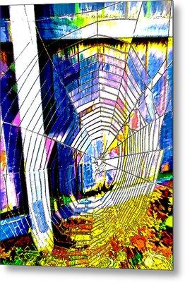 The Refracted Cobweb Metal Print by Steve Taylor