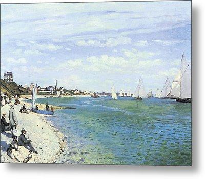 The Regatta At Sainte-adresse Metal Print by Claude Monet