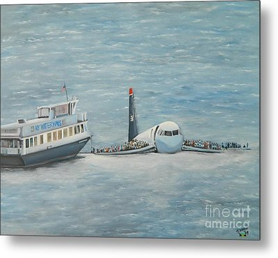 The Rescue Metal Print by Kenneth Harris