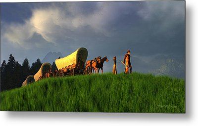 The Restless Scout Metal Print by Dieter Carlton