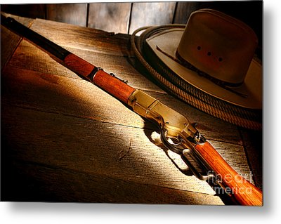 The Rifle Metal Print by Olivier Le Queinec