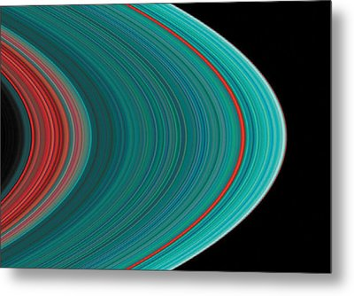 The Rings Of Saturn Metal Print by Anonymous