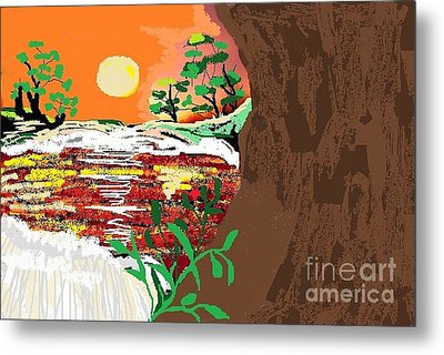 The River Metal Print by Sherry  Hatcher