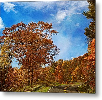 The Road To Autumn Metal Print by Kim Hojnacki