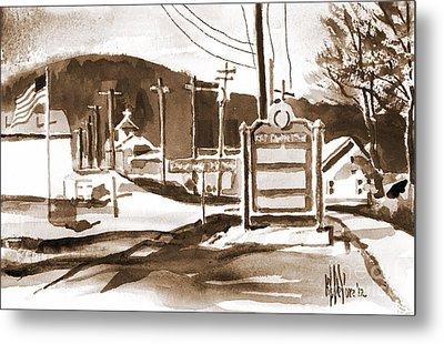 The Road To Farmington Pilot Knob Missouri Metal Print by Kip DeVore