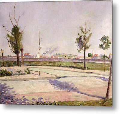 The Road To Gennevilliers, 1883 Oil On Canvas Metal Print by Paul Signac