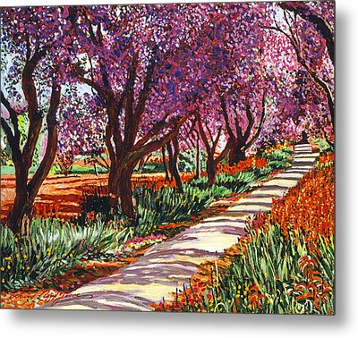 The Road To Giverny Metal Print by David Lloyd Glover