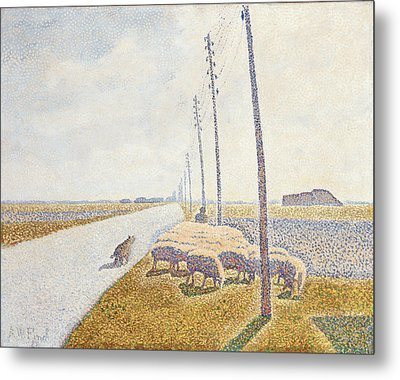 The Road To Nieuport Metal Print by Willy Finch