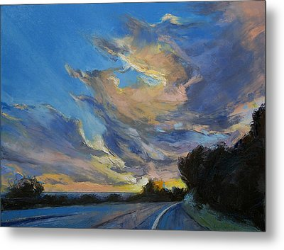 The Road To Sunset Beach Metal Print by Michael Creese