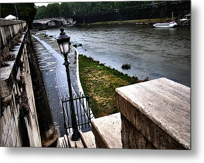 The Road To Tevere Metal Print by Francesco Zappala