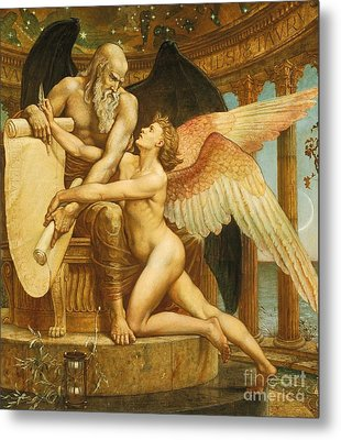 The Roll Of Fate Metal Print by Walter Crane