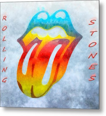 The Rolling Stones Metal Print by Dan Sproul