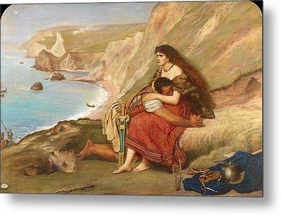 The Romans Leaving Britain Metal Print by John Everett Millais