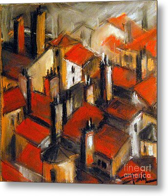 The Roofs Of Lyon Metal Print by Mona Edulesco
