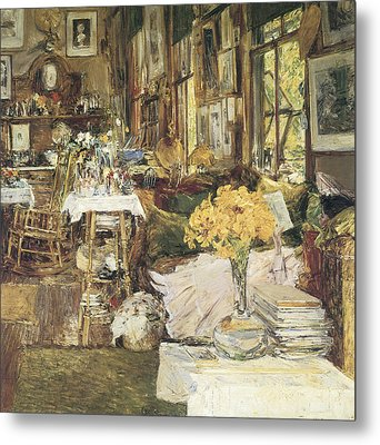 The Room Of Flowers Metal Print by Childe Hassam