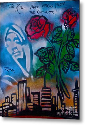 The Rose From The Concrete Metal Print by Tony B Conscious