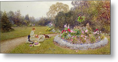 The Rose Garden Metal Print by Thomas James Lloyd