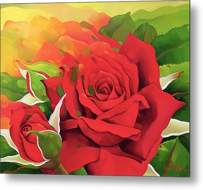 The Roses In The Festival Of Light Metal Print by Myung-Bo Sim
