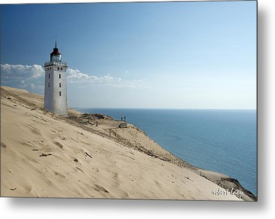 The Rubjerg Lighthouse Metal Print by Robert Lacy