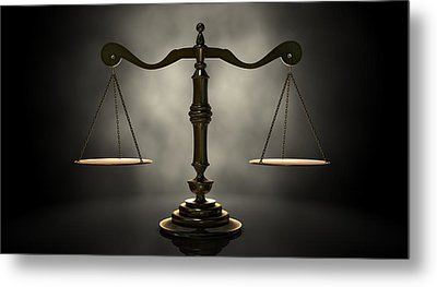The Scales Of Justice Metal Print by Allan Swart
