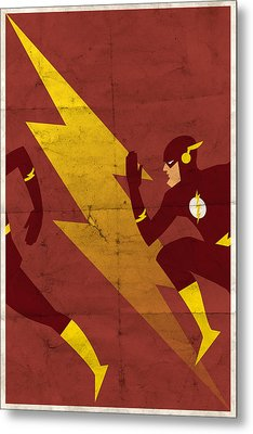 The Scarlet Speedster Metal Print by Michael Myers