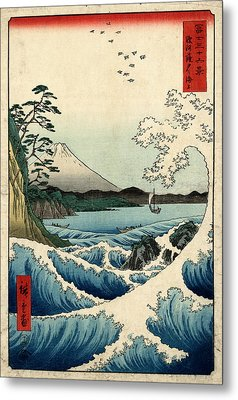 The Sea At Satta In Suruga Province Metal Print by Georgia Fowler