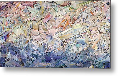 Fragmented Sea Metal Print by James W Johnson