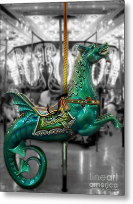 The Sea Dragon - Carousel Metal Print by Colleen Kammerer