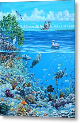 The Sea Is Calling Metal Print by Danielle  Perry