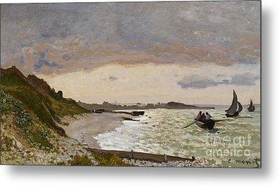The Seashore At Sainte Adresse Metal Print by Claude Monet