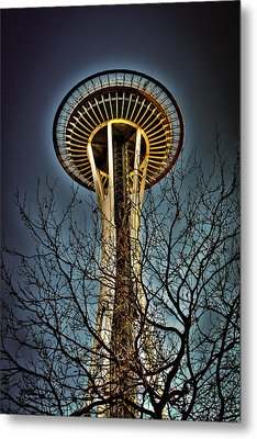 The Seattle Space Needle Iv Metal Print by David Patterson