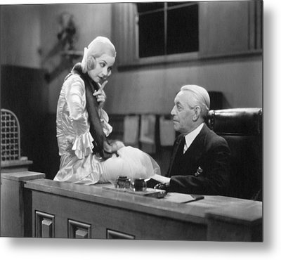 The Secretary And The Boss Metal Print by Underwood Archives