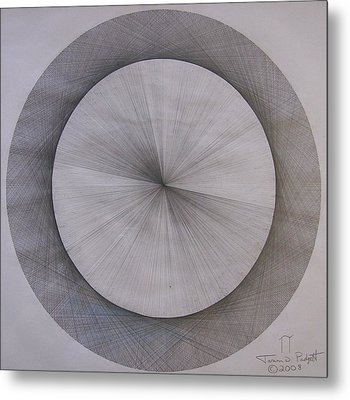 The Shape Of Pi Metal Print by Jason Padgett