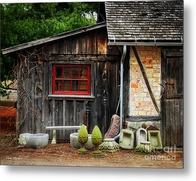 The Shed At Monches Farm Metal Print by Mary Machare