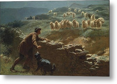 The Sheepstealer Metal Print by Briton Riviere