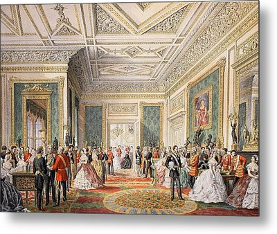 The Signing Of The Marriage Attestation Metal Print by English School