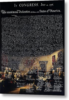 The Signing Of The United States Declaration Of Independence V2 Metal Print by Wingsdomain Art and Photography