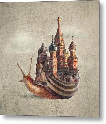 The Snail's Daydream Metal Print by Eric Fan