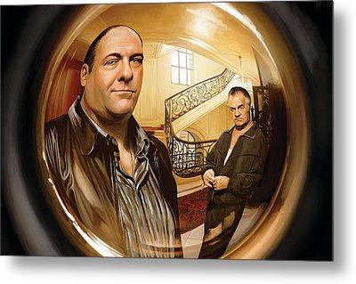 The Sopranos  Artwork 1 Metal Print by Sheraz A