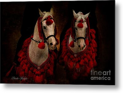 The Sounds Of Desert Metal Print by Dorota Kudyba