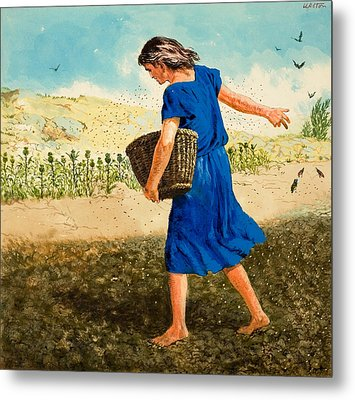 The Sower Of The Seed Metal Print by Clive Uptton