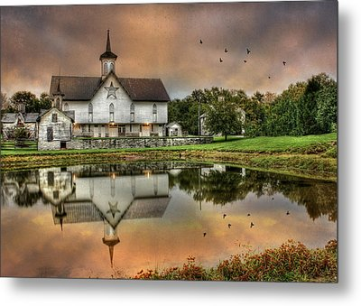 The Star Barn Metal Print by Lori Deiter