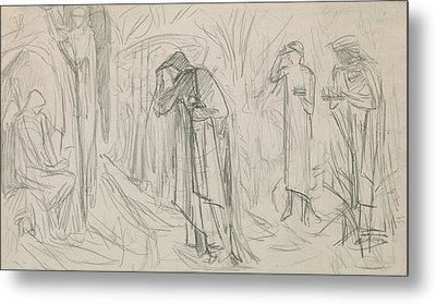 The Star Of Bethlehem Metal Print by Sir Edward Burne-Jones