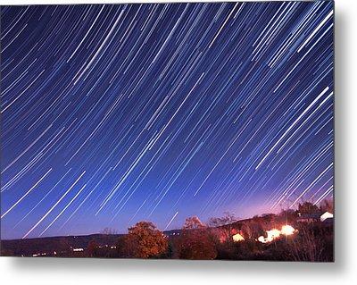 The Star Trail In Ithaca Metal Print by Paul Ge