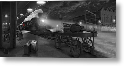The Station - Panoramic Metal Print by Mike McGlothlen