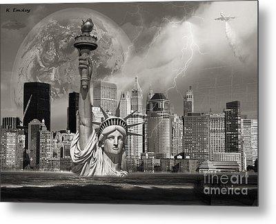 The Statue Of Sandy Metal Print by Karl Emsley