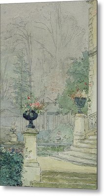 The Steps Of Les Fourneaux At Melun Metal Print by Henri Rouart